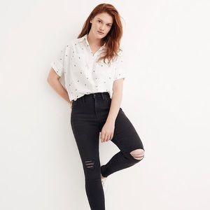Madewell High Rise Skinny Jeans Size 27 Black Sea